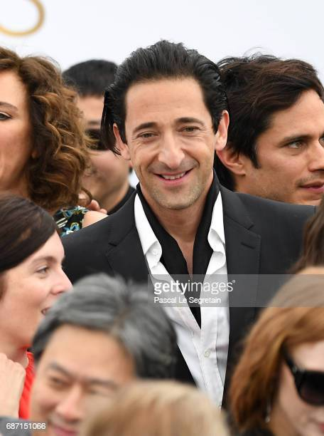 Adrien Brody attends the 70th Anniversary Photocall during the 70th annual Cannes Film Festival at Palais des Festivals on May 23 2017 in Cannes...