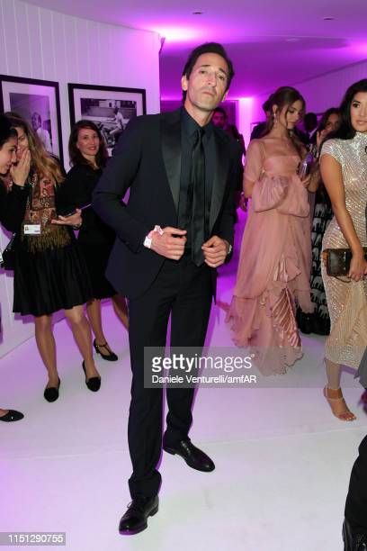 Adrien Brody attends the amfAR Cannes Gala 2019 after party at Hotel du Cap-Eden-Roc on May 23, 2019 in Cap d'Antibes, France.