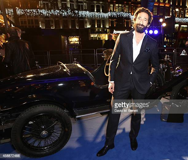 Adrien Brody attends the Blue of London celebrating the world's first Bugatti Lifestyle Boutique opening at Brompton Road on November 12 2014 in...