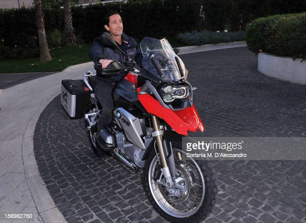 Adrien Brody attends the BMW 'Ride of your Life' Promotion Event on November 15 2012 in Rome Italy