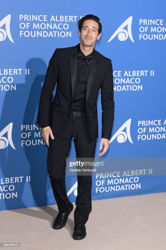 Adrien Brody attends the inaugural 'Monte-Carlo Gala for the Global Ocean' honoring Leonardo DiCaprio at the Monaco Garnier Opera on September 28, 2017 in Monaco, Monaco.