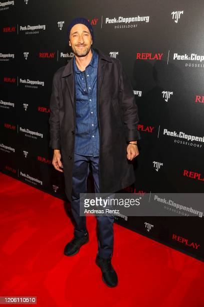 Adrien Brody attends the launch event for the new Capsule Collection Neymar Jr. X Replay at Weltstadthaus on February 13, 2020 in Duesseldorf,...