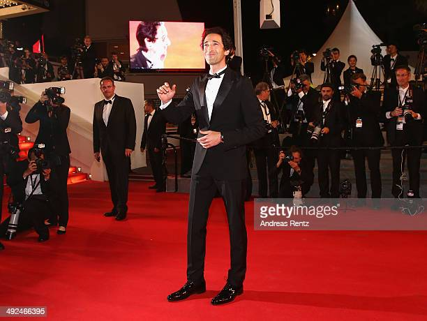 Adrien Brody attends the 'Lost River' premiere during the 67th Annual Cannes Film Festival on May 20 2014 in Cannes France