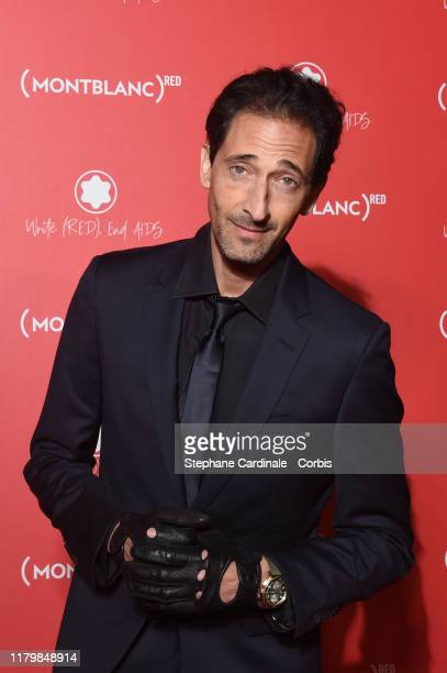 Adrien Brody attends the Montblanc Launch Collection To Benefit RED on October 08 2019 in Paris France
