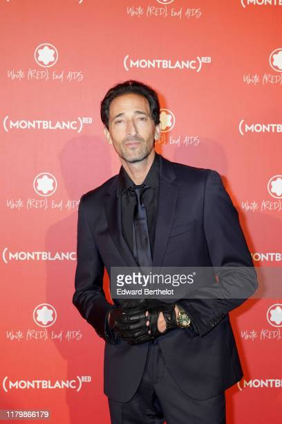 Adrien Brody attends the Montblanc: Launch Dinner and Party at Monsieur Bleu on October 08, 2019 in Paris, France.