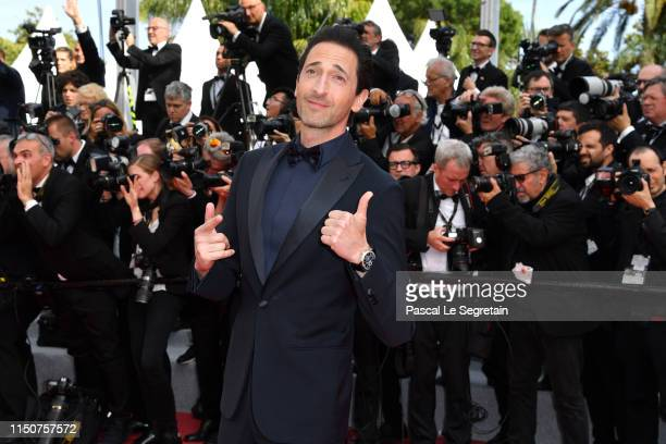 """Adrien Brody attends the screening of """"Once Upon A Time In Hollywood"""" during the 72nd annual Cannes Film Festival on May 21, 2019 in Cannes, France."""
