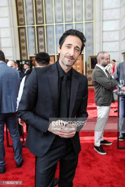 Adrien Brody attends the Snow Leopard Foundation Gala 2019 at Astana Arena on July 04 2019 in Astana Kazakhstan