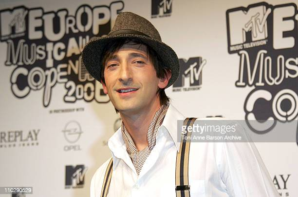 Adrien Brody during 2006 MTV European Music Awards Copenhagen Press Room at Bella Centre in Copenhagen Denmark