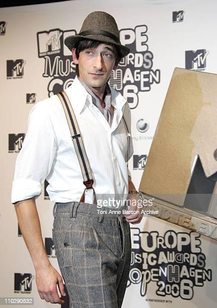 Adrien Brody during 2006 MTV European Music Awards Copenhagen Press Room at Bella Centre in Copenhagen Denmark
