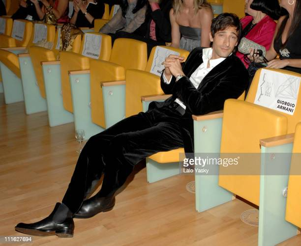 Adrien Brody during Elle Magazine 20th Anniversary Party Valencia October 20 2006 in Valencia Valencia Spain