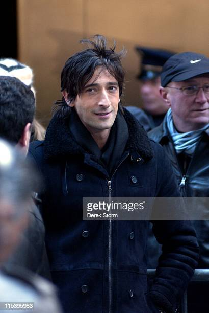 Adrien Brody during Mary J Blige and Adrien Brody Visit the Today Show November 23 2005 at Today Show in New York City New York United States