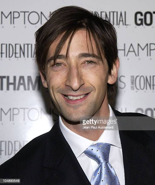 Adrien Brody during PreOscar Bash To Celebrate LA Confidential's Oscar/Spring Fashion Issue at Skybar at the Mondrian in Los Angeles California...