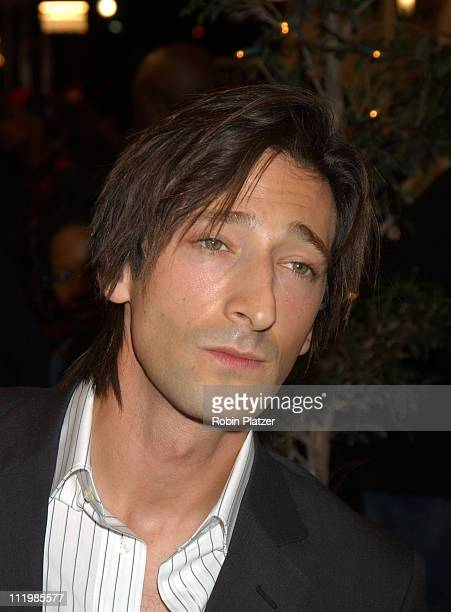 Adrien Brody during Spike TV Presents 2003 GQ Men of the Year Awards Arrivals at The Regent Wall Street in New York City New York United States