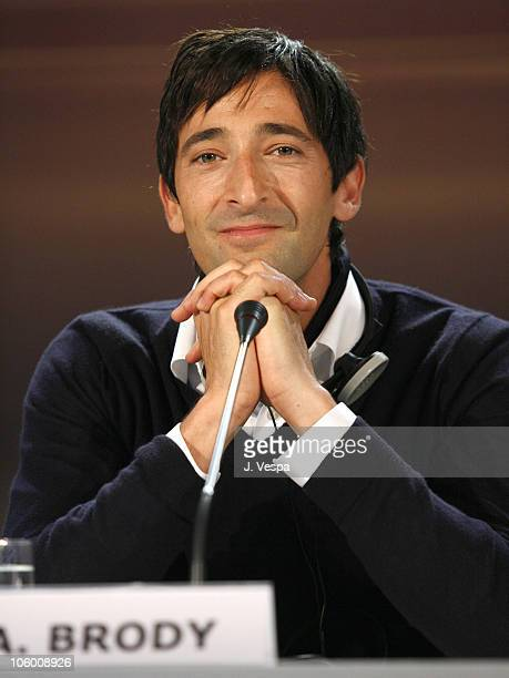 Adrien Brody during The 63rd International Venice Film Festival 'Hollywoodland' Press Conference at Palazzo del Casino in Venice Lido Italy