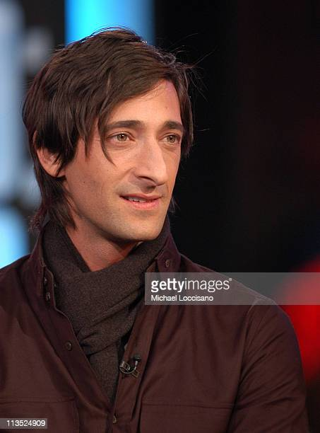 Adrien Brody during The Cast of 'King Kong' and Gisele Bundchen Visit MTV's 'TRL' December 5 2005 at MTV Studios Times Square in New York City New...
