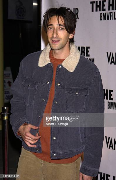 Adrien Brody during The Hire Premiere at ArcLight Cinemas in Hollywood California United States