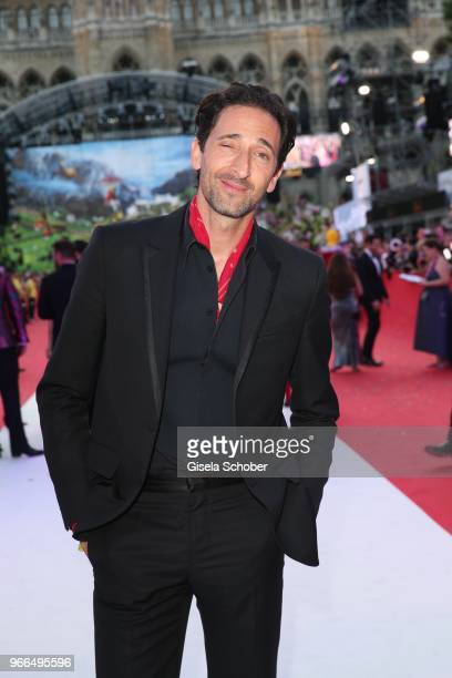 Adrien Brody during the Life Ball 2018 at City Hall on June 2 2018 in Vienna Austria The Life Ball an annual charity event raising funds for HIV AIDS...