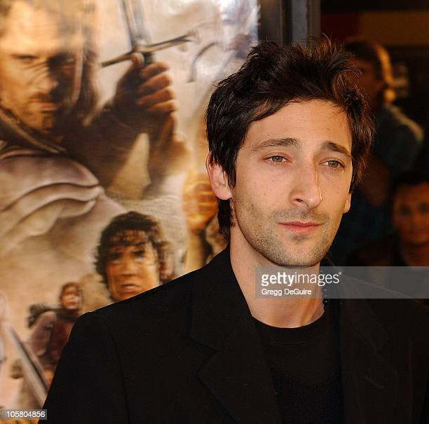 Adrien Brody during The Lord Of The RingsThe Return Of The King Los Angeles Premiere at Mann Village Theatre in Westwood California United States