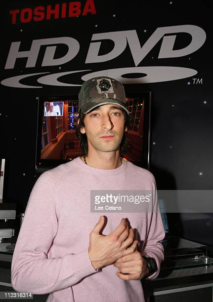 Adrien Brody during Toshiba Photo Op with Adrien Brody at CES - January 7, 2006 at Las Vegas Convention Center in Las Vegas, Nevada, United States.