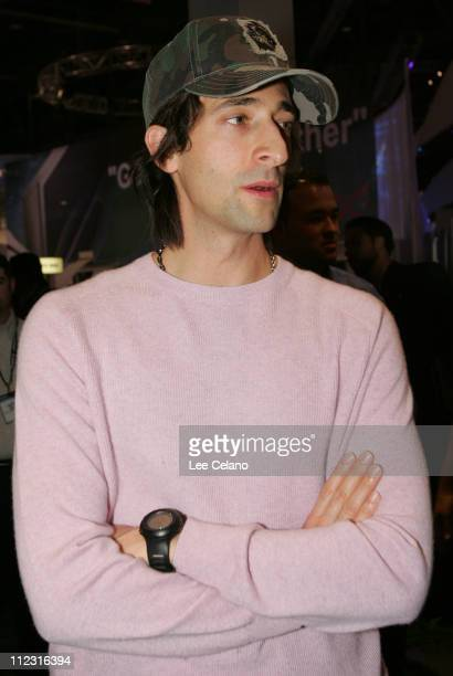 Adrien Brody during Toshiba Photo Op with Adrien Brody at CES January 7 2006 at Las Vegas Convention Center in Las Vegas Nevada United States