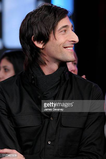 Adrien Brody from King Kong during The Cast of King Kong and Gisele Bundchen Visit MTV's TRL December 5 2005 at MTV Studios Times Square in New York...