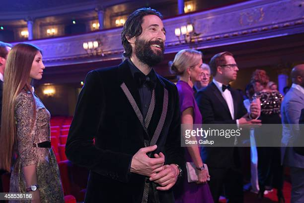 Adrien Brody is seen on stage at the GQ Men Of The Year Award 2014 at Komische Oper on November 6 2014 in Berlin Germany