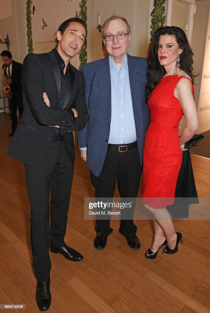 Adrien Brody, Paul Allen and guest attend The 9th Annual Filmmakers Dinner hosted by Charles Finch and Jaeger-LeCoultre at Hotel du Cap-Eden-Roc on May 19, 2017 in Cap d'Antibes, France.