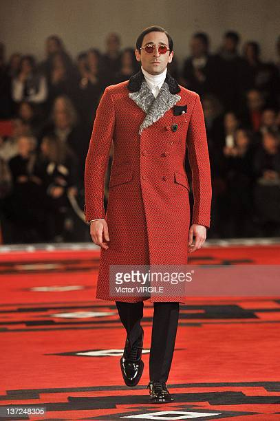 Adrien Brody walks the runway during the Prada ready to Wear Fall/Winter 2012 2013 show as part of the Milan Men Fashion Week on January 15 2012 in...