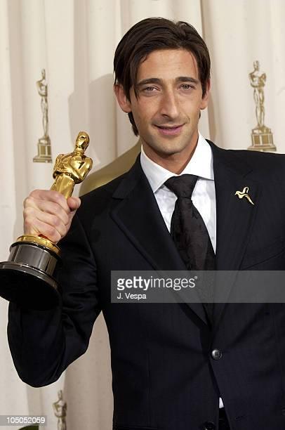 Adrien Brody winner of Best Actor for The Pianist