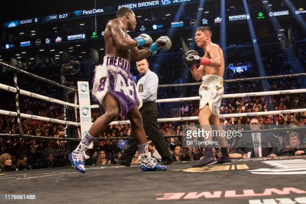 Adrien Broner and Jesse Vargas fight to a Majority Draw in their Welterweight fight at Barclays Center on April 21, 2018 in New York City.
