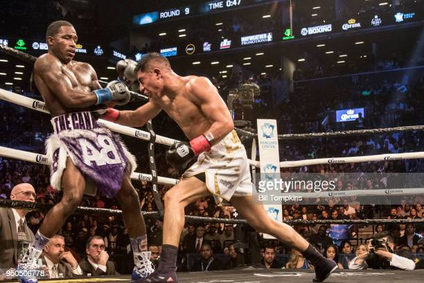 Adrien Broner and Jesse Vargas fight to a Majority Draw in their Welterweight fight at Barclays Center on April 21 2018 in New York City