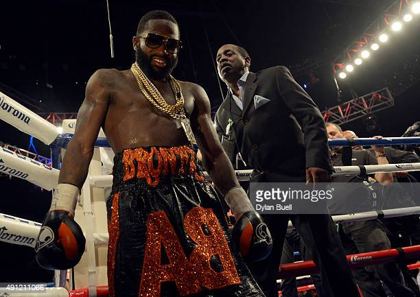 Adrien Broner leaves the ring after beating Khabib Allakhverdiev at US Bank Arena on October 4 2015 in Cincinnati Ohio