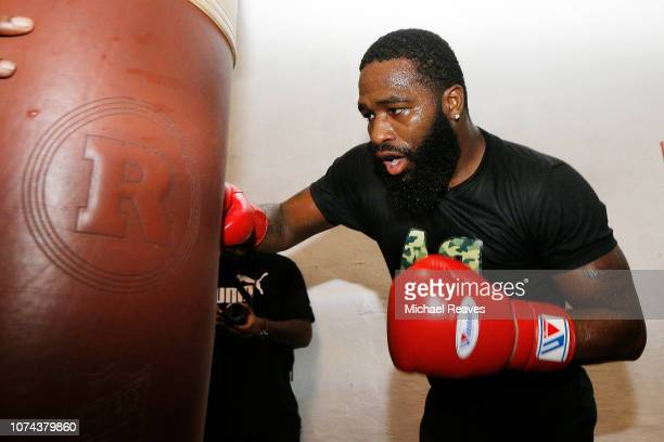 Adrien Broner works out for the media at the 5th Street Gym on December 18 2018 in Miami Florida Broner is scheduled to fight Manny Pacquiao on...