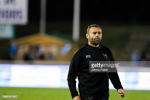 Adrien Buononato head coach of Oyonnax before the Pro D2 match between Massy and Oyonnax on November 9 2018 in Massy France
