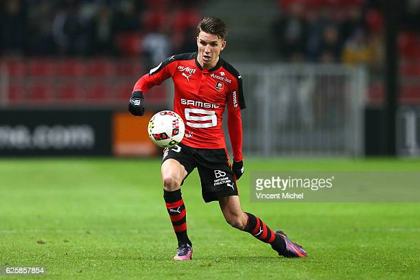 Adrien Hunou of Rennes during the French Ligue 1 match between Rennes and Toulouse at Roazhon Park on November 25, 2016 in Rennes, France.