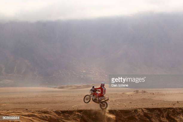 Adrien Mare of France and Team Casteau Aventure rides a KTM 450 RallyE in the Classe 22 Marathon during stage four of the 2018 Dakar Rally a loop...