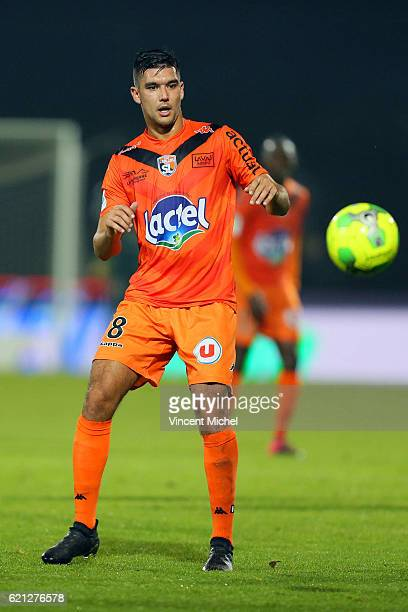 Adrien Monfray of Laval during the Ligue 2 match between Stade Lavallois and Le Havre AC on November 4 2016 in Laval France