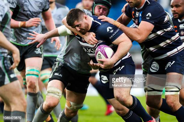 Adrien Pelissie of Bordeaux during the European Challenge Cup match between Bordeaux Begles and Connacht at Stade ChabanDelmas on January 19 2019 in...