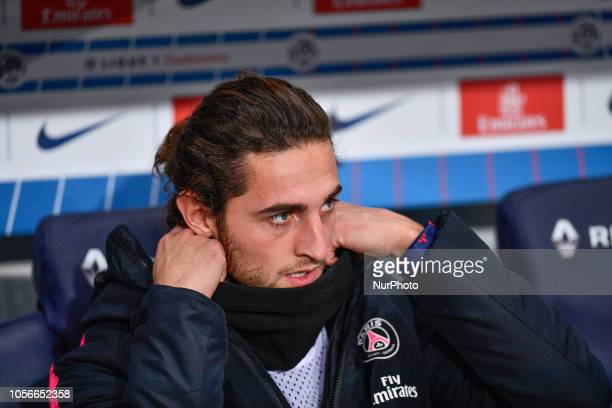 Adrien Rabiot during the french Ligue 1 match between Paris SaintGermain and Lille at Parc des Princes stadium on November 2 2018 in Paris France