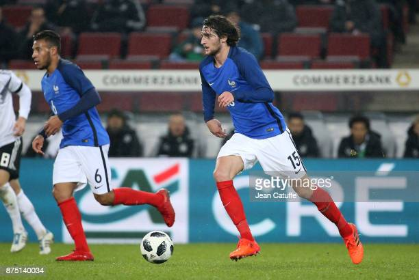 Adrien Rabiot of France Corentin Tolisso of France during the international friendly match between Germany and France at RheinEnergieStadion on...