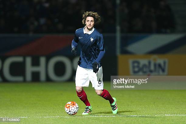 Adrien Rabiot of France during the Uefa U21 European Championship qualifier between France and Scotland at Stade Jean Bouin on March 24 2016 in...