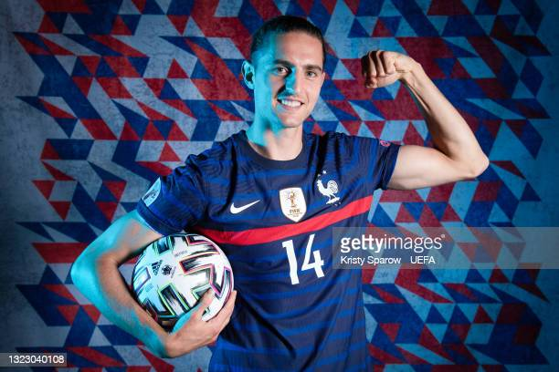 Adrien Rabiot of France poses during the official UEFA Euro 2020 media access day on June 10, 2021 in Rambouillet, France.