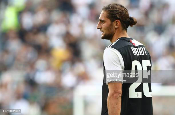 Adrien Rabiot of Juventus looks on during the Serie A match between Juventus and SPAL at Allianz Stadium on September 29 2019 in Turin Italy