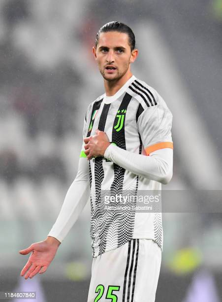 Adrien Rabiot of Juventus looks on during the Serie A match between Juventus and Genoa CFC at on October 30 2019 in Turin Italy