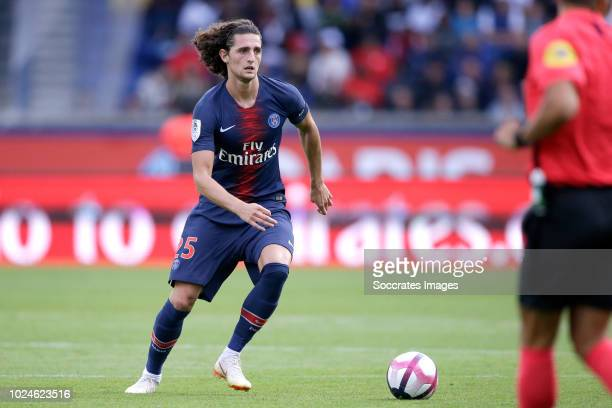 Adrien Rabiot of Paris Saint Germain during the French League 1 match between Paris Saint Germain v Angers at the Parc des Princes on August 25 2018...
