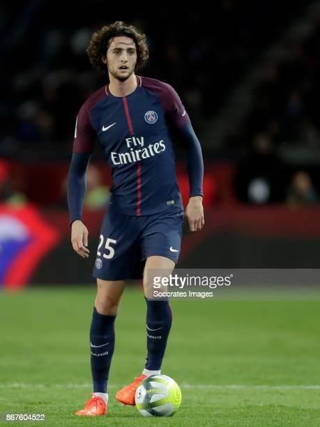 Adrien Rabiot of Paris Saint Germain during the French League 1 match between Paris Saint Germain v Nice at the Parc de Princes on October 27 2017 in...
