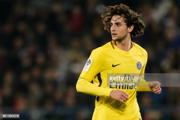 Adrien Rabiot of Paris Saint Germain during the French League 1 match between Caen v Paris Saint Germain at the Stade Michel d Ornano on May 19 2018...