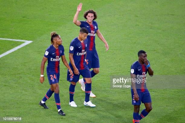 Adrien Rabiot of Paris Saint Germain during the French Ligue 1 match between Paris Saint Germain and Caen at Parc des Princes on August 12 2018 in...