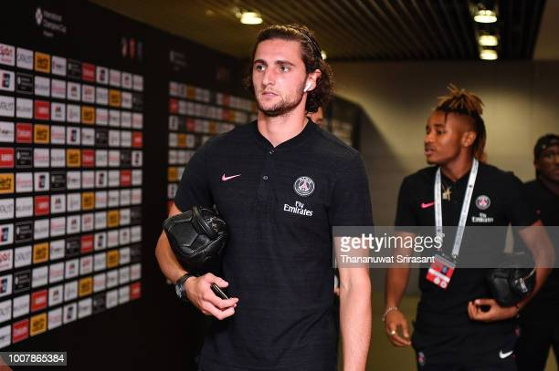 Adrien Rabiot of Paris Saint Germain walks during the International Champions Cup match between Paris Saint Germain and Clu b de Atletico Madrid at...