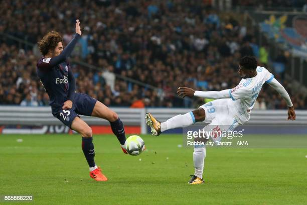 Adrien Rabiot of Paris SaintGermain and AndreFrank Zambo Anguissa of Marseille during the Ligue 1 match between Olympique Marseille and Paris Saint...